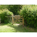 This gate leads from the field down to the Forest School.