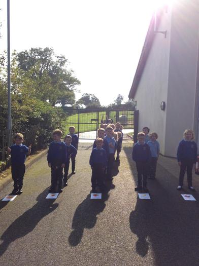 The children have been learning about block graphs - we even made a human version!
