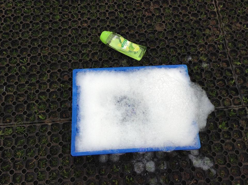 Shower gel bubbles