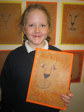 Emily's lion won her Artist of the Month for November!