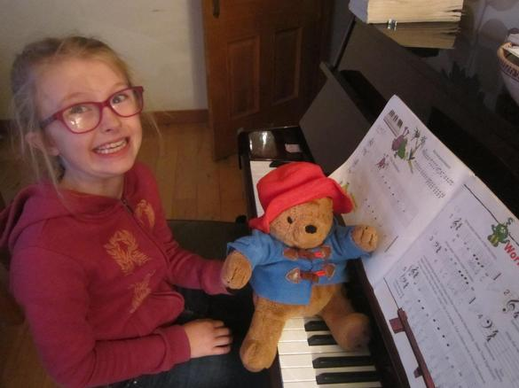 Paddington wasn't very good at piano playing!
