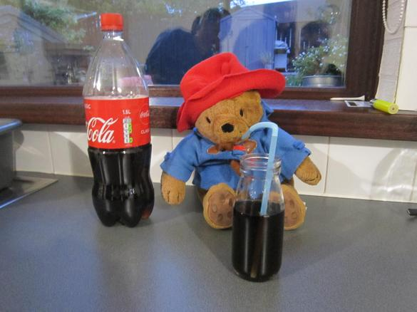 He was able to relax with a coke!