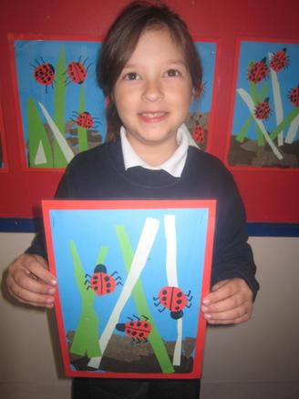 Sandra is October's Artist with lovely ladybirds