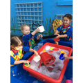 Exploring capacity in the water tray.