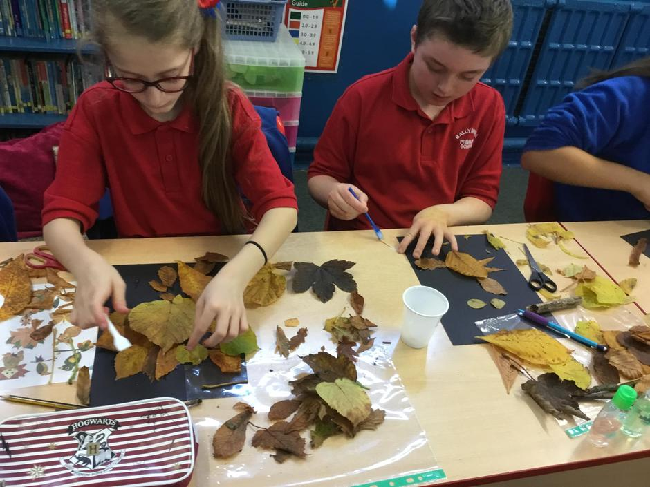 Piecing our leaves together.
