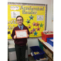 A bronze certificate for reading 250,000 words.