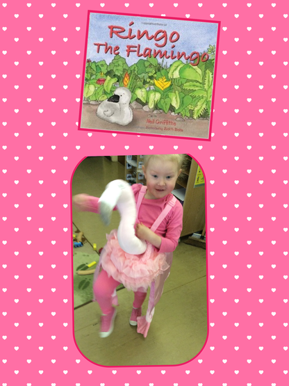 Ringo the Flamingo is one of our stories this term