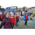 Reception excited by the snow