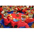Infants' Christmas dinner