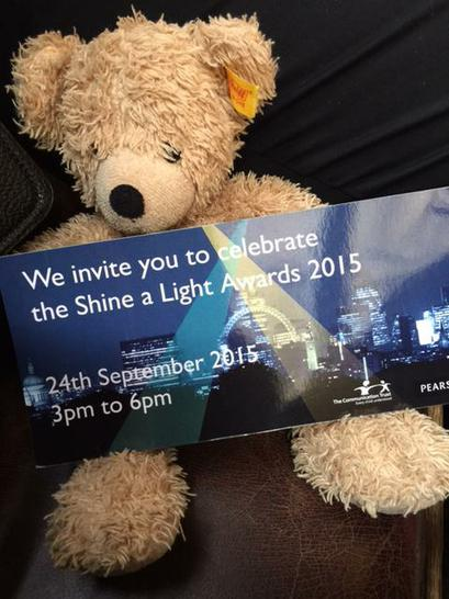 Our invitation for the Shine a Light Awards