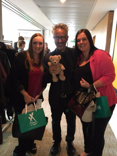 Anna and Sian met David Baddiel...and so did Flynn