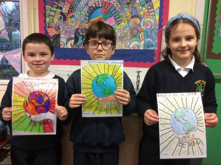 We created our own kindness posters