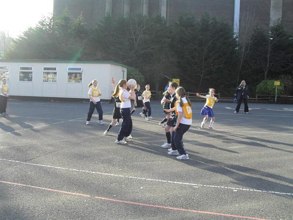 BCIPS Netball match against St Comgalls