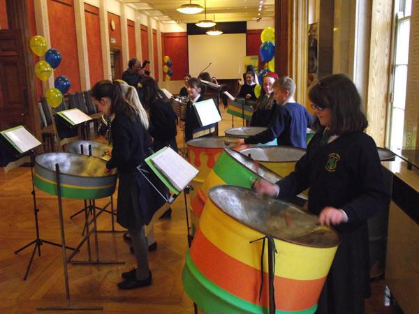 Steel Band playing at Stormont