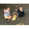 Chalk messages to promote mental well-being