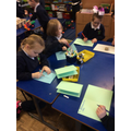 Writing thank you cards to the PSNI