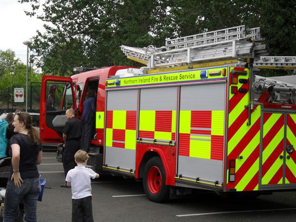 Fire Engine and crew