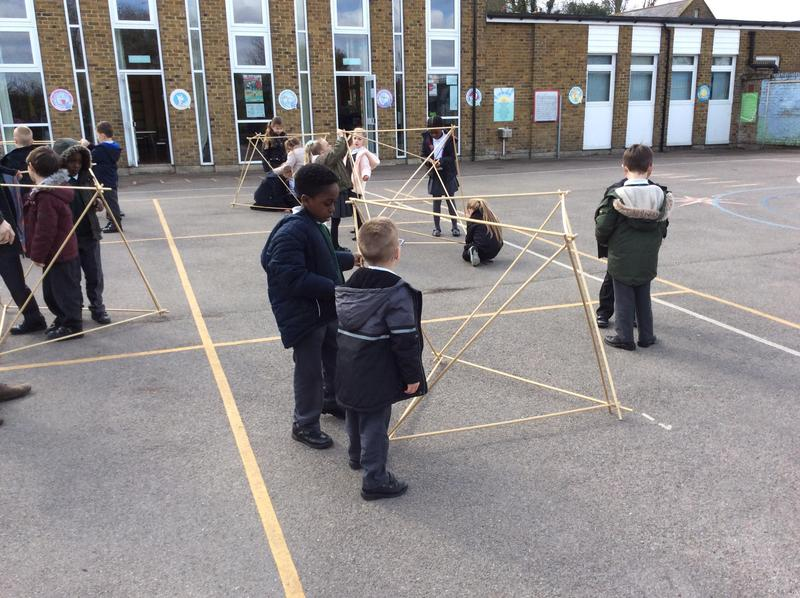 Next we made octohedrons.