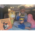 Maher created a reading den fit for a super-hero