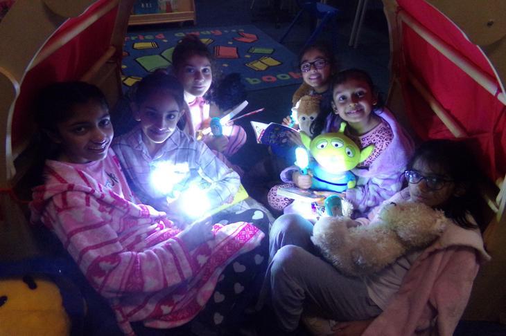 Slumber reading party!