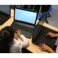 Using the computer to type our name
