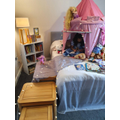 Emaan created her own magical reading den