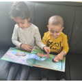 Mrs Sattar's children have been reading together.