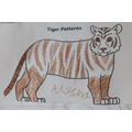 Alesha created he own patterned Tiger