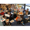 Mrs Hart celebrated with the children in school