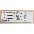 Finding quarters of different numbers