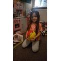 Practising my ball skills-Annabella