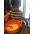 Esa mixing his potion