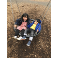 Brother and sister at the park-Zayna