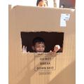 Having fun with a huge box