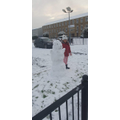 Playing in the snow-Lucy