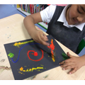 Using the primary colours to create firework pictures
