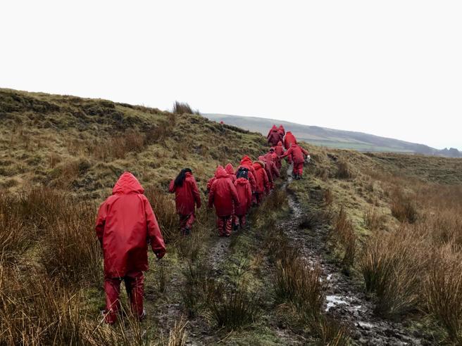 trekking through the mud