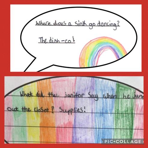 Pupils across school shared jokes.