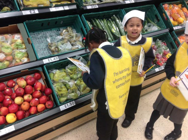 Searching for fruit and vegetables around Tesco