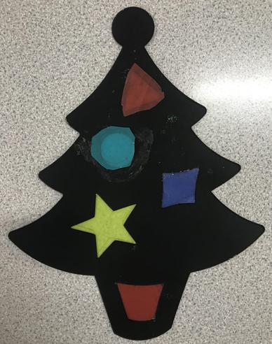 Stained Glass Christmas Shapes
