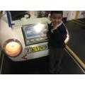 Enjoyed making his registration plate