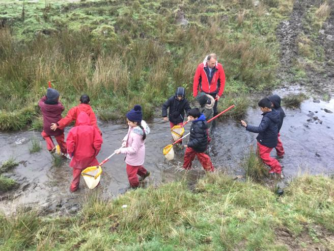Holly Class exploring the river.