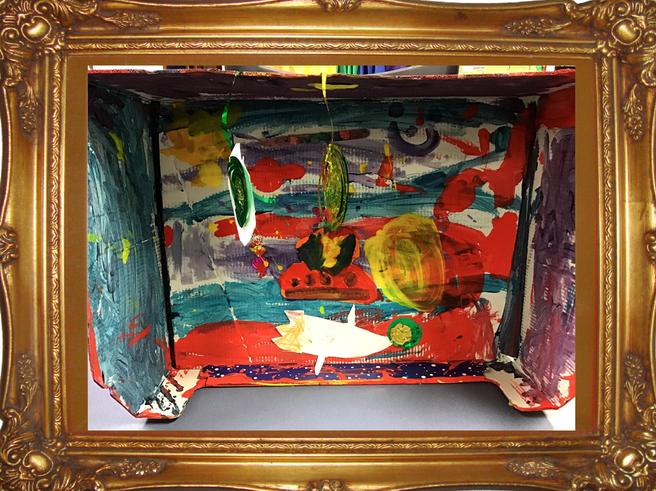 Haneefah made an outer space artwork.
