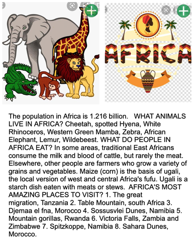 Zara has found out lots of facts about Africa