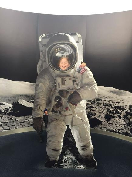 One small step for man...one giant leap for Tilly.