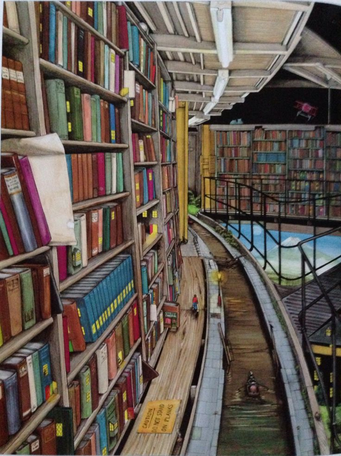 A Picture of the library from How to Live Forever
