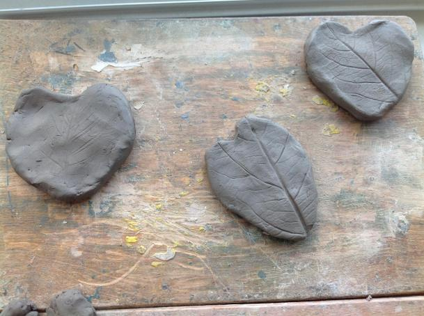 The finished hearts- we will paint them next!