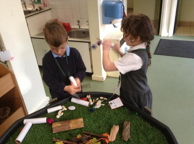 Making our own fireworks in Small World Play