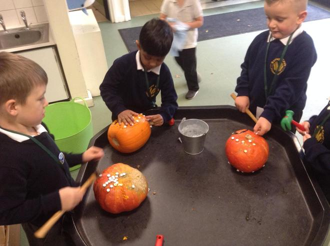 Celebrating Halloween using our fine motor skills