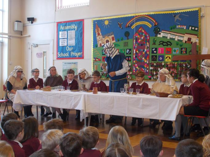 Our open the book team helping our children explore communion during a special theme day